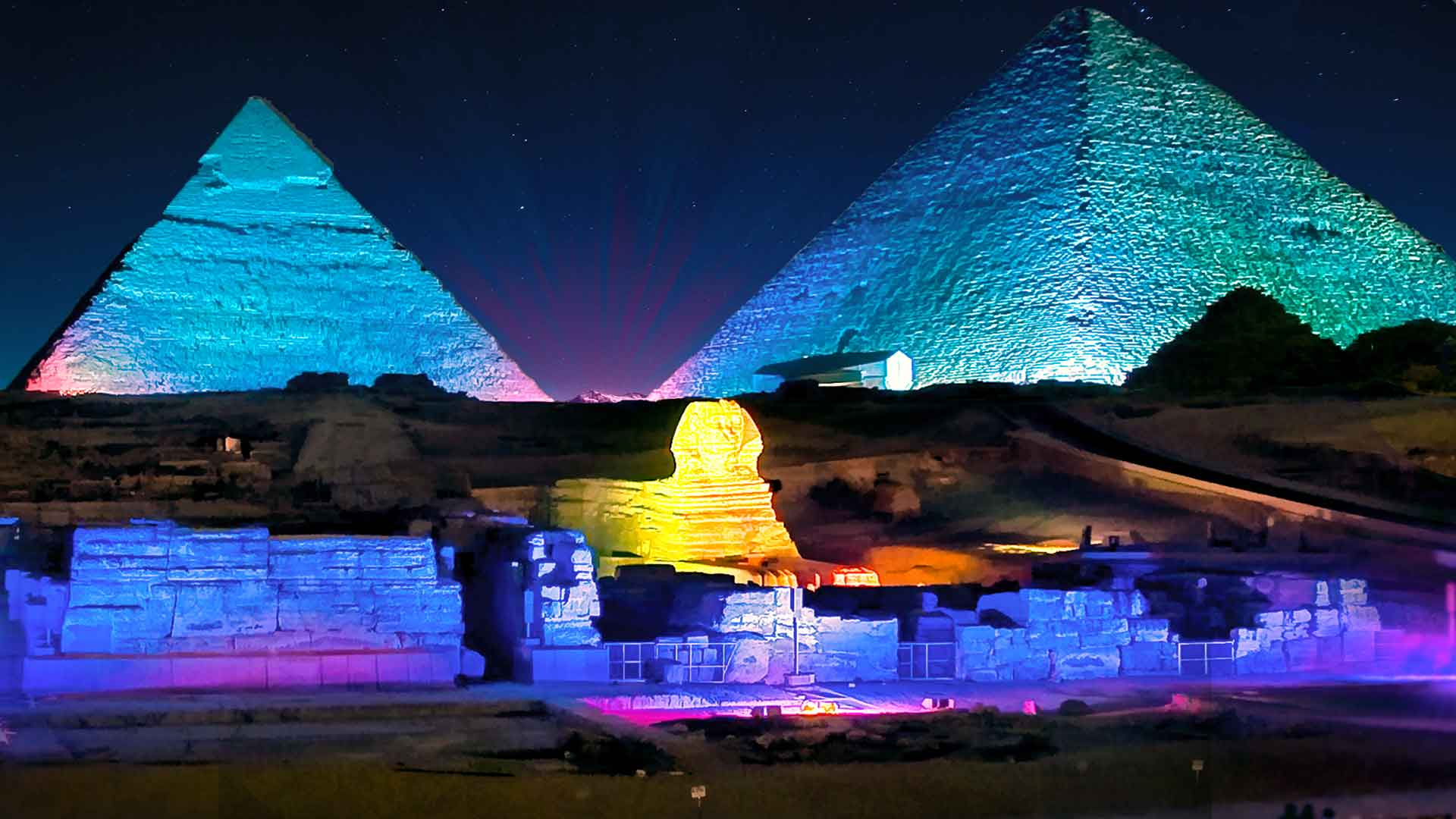 Sound & Light show in the Pyramids area.